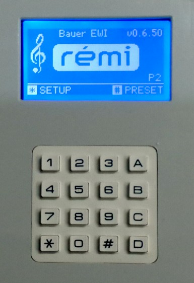 REMI controller front panel