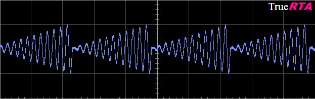 Scope Trace - AM sine with ramp